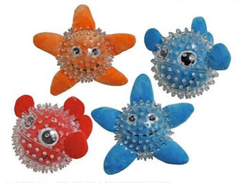 Игрушка для собак CROCI Море, шипованнная, резина,  9см