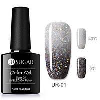 Термо гель-лак для ногтей маникюра термолак 7.5мл UR Sugar, UR-01/4