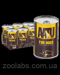 Консервы Aatu для собак с диким кабаном | Aatu Pork & Wild Boar 400 грамм
