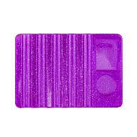 Подставка для кистей с палитрой для красок, фиолетовая