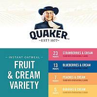 Овсяная Каша Quaker Instant Oatmeal Персик - Сливки , индивидуальные пакеты, США