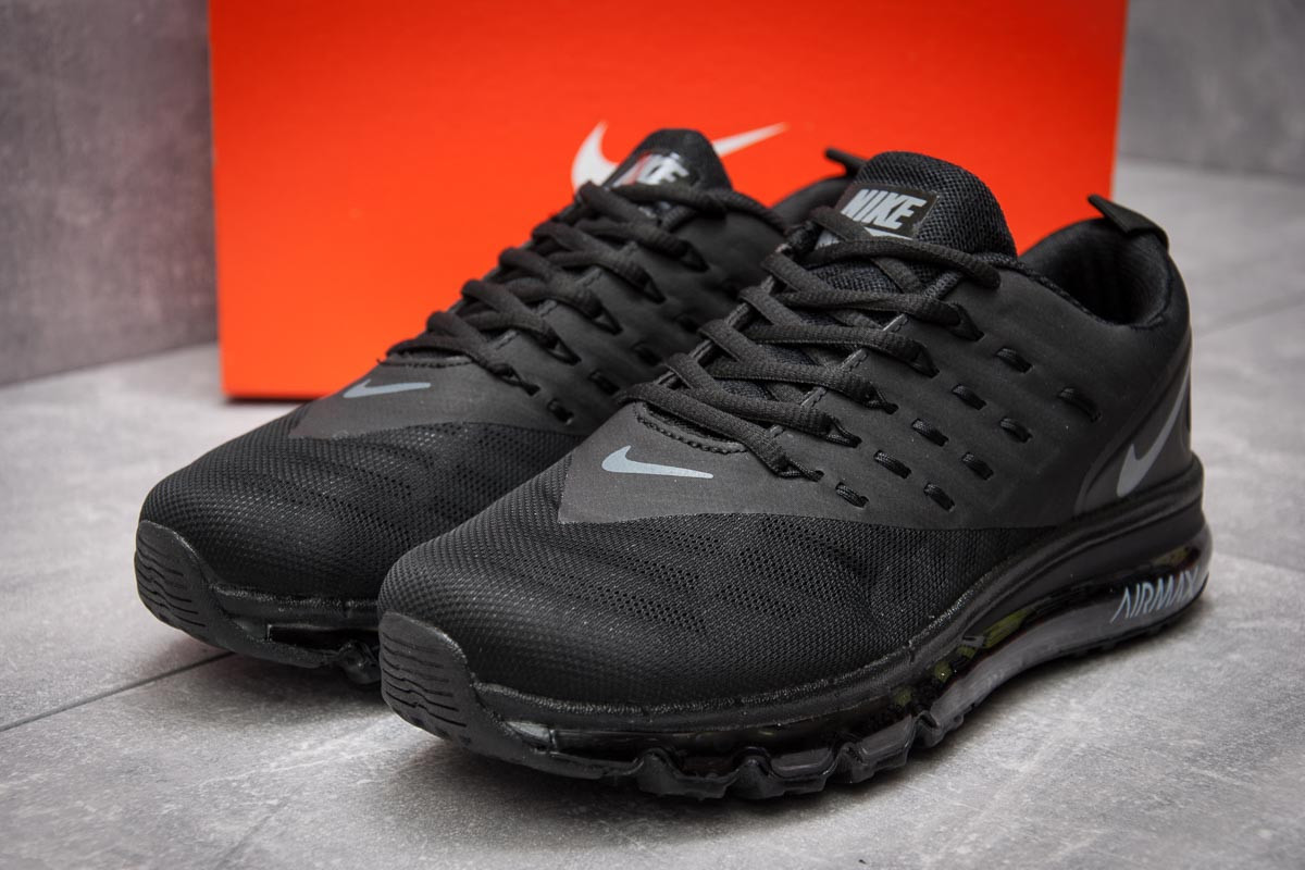 Кроссовки мужские 12662, Nike Air Max, черные, < 42 > р. 42-26,5см.