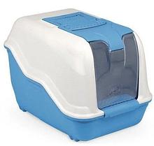 Туалет NETTA  закритий пластиковий для котів, 54x39x40 см