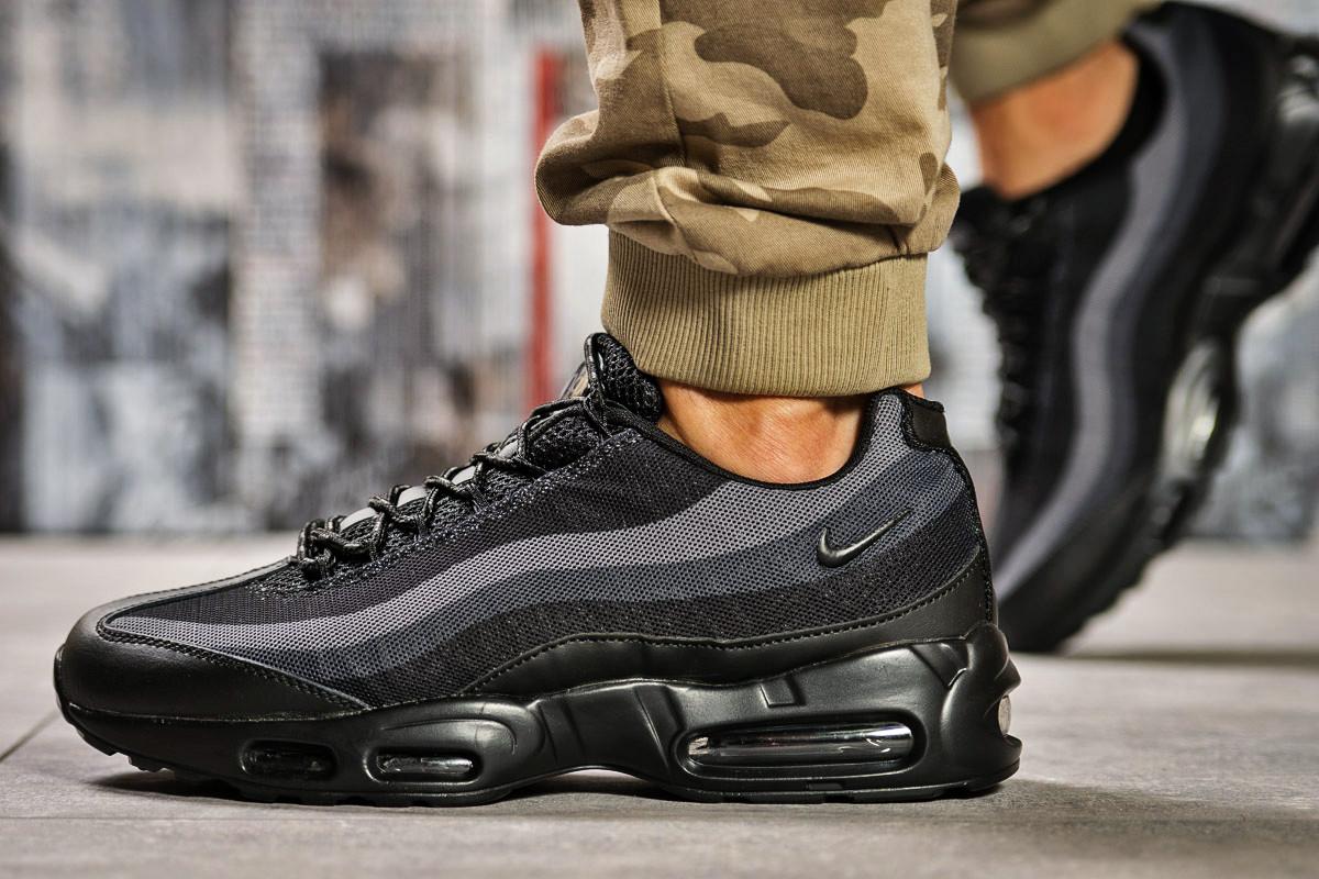 Кроссовки мужские 12762, Nike Aimax, черные, < 44 > р. 44-28,6см.