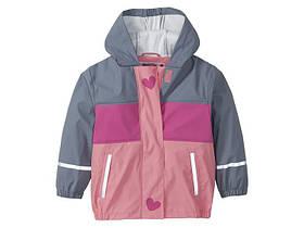 """Куртка-дощовик для дівчинки """"Сердечка"""""""