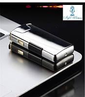 Импульсная USB зажигалка Tesla Magic вращающаяся плазменная дуга  HL111 lighter Серебро