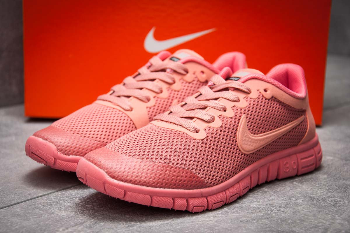 Кроссовки женские 12993, Nike Air Free 3.0, коралловые, < 37 > р. 37-23,1см.
