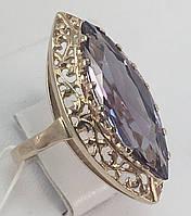 Кольцо маркиз с александритом золотое 583 проба СССР