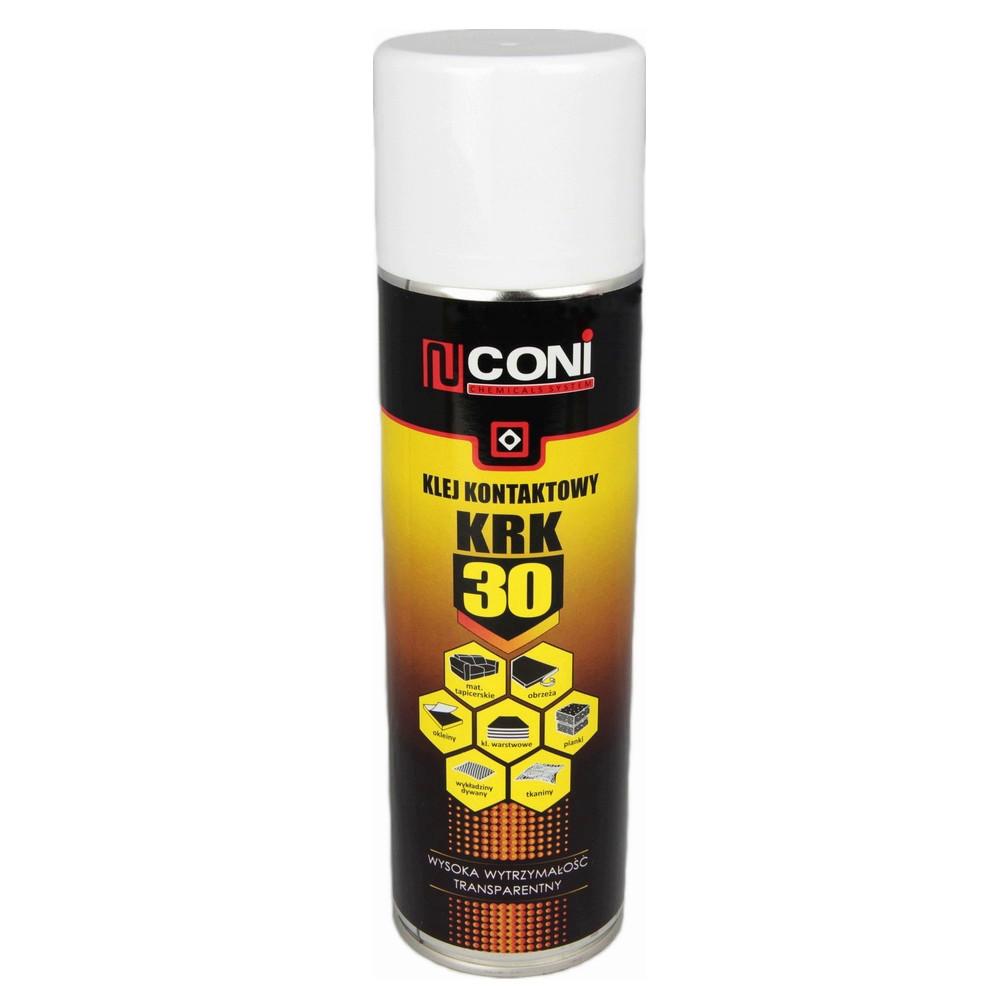 Аэрозольный термостойкий клей CONI KRK 30 (до 125 °C) для ткани, карпета, ковролина, кожзама, 500мл Польща