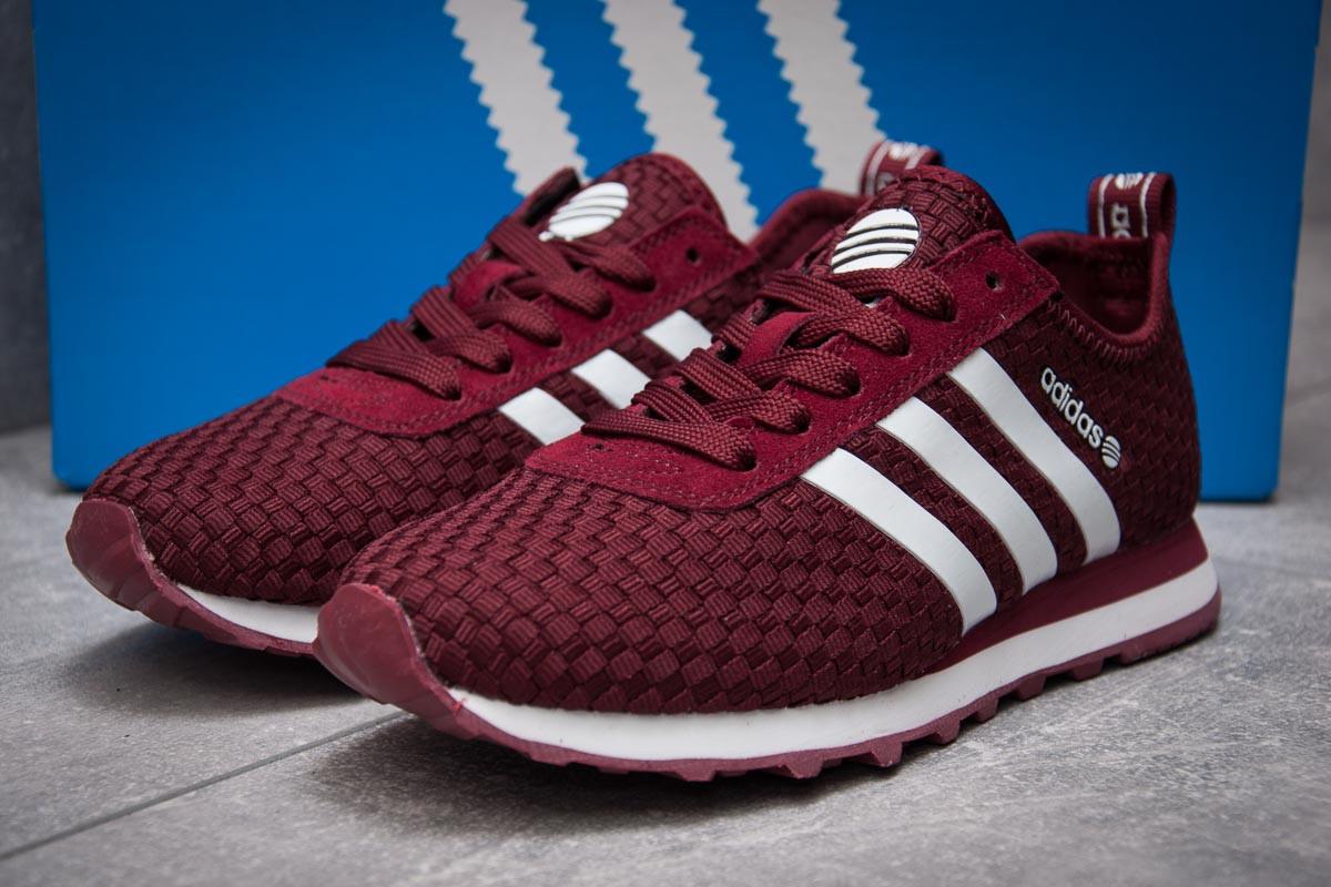 Кроссовки женские 13414, Adidas Lite, бордовые, < 37 > р. 37-23,1см.