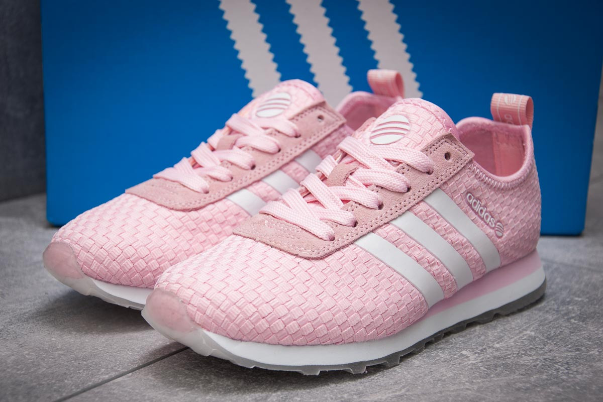 Кроссовки женские 13416, Adidas Lite, розовые, < 37 38 41 > р. 37-23,1см.