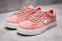 Кеды женские 13842, Converse, розовые, < 37 > р. 37-23,5см., фото 1