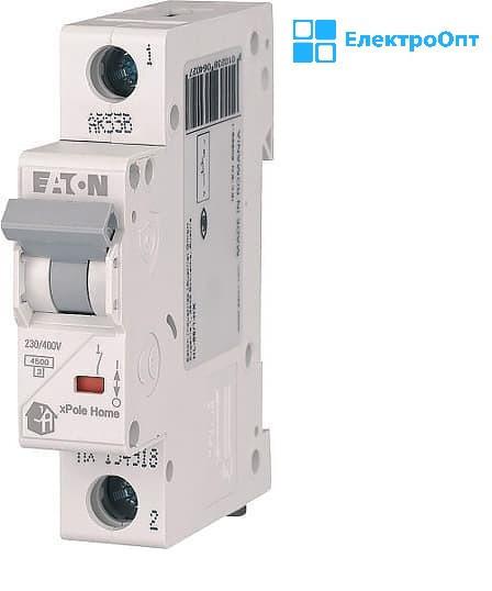Автоматический выключатель EATON HL-C25 А однополюсный HL194733