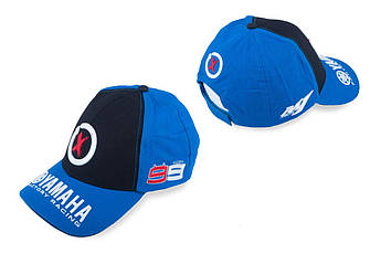 Бейсболка (Мото кепка) Ямаха (Yаmaha) AND 99X JORGE LORENZO (черно-синяя)