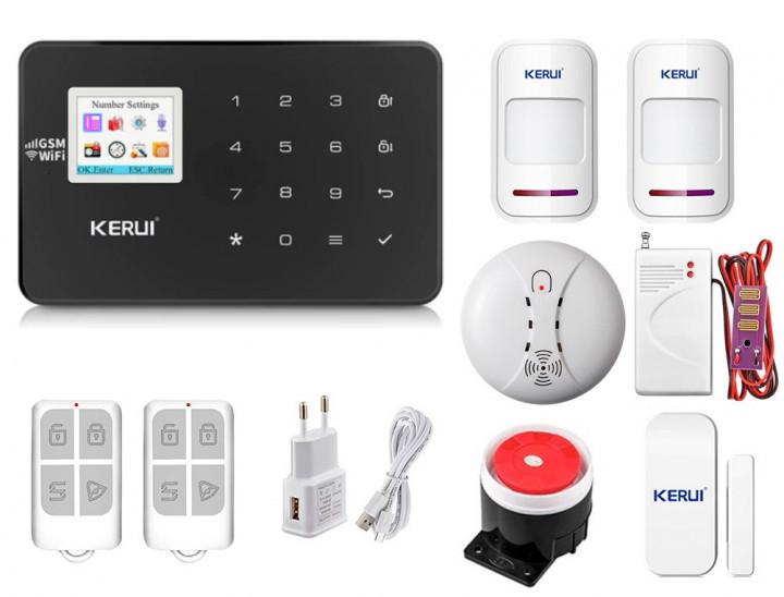 Комплект сигнализации Kerui Wi-Fi W18 Pro для 1-комнатной квартиры черная! Гарантия 24 месяца!