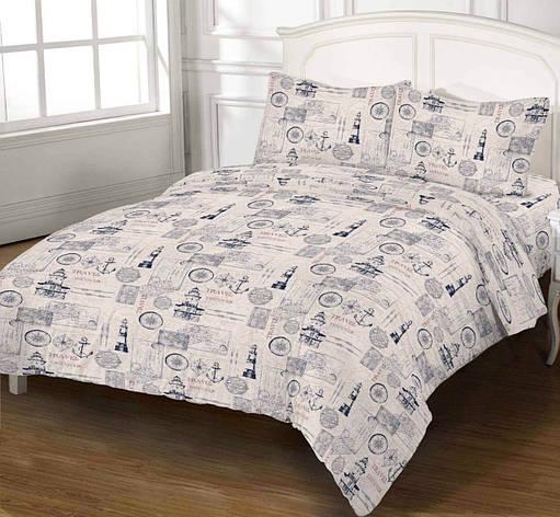 Комплект постільної білизни DOTINEM Seni Бязь двоспальний 180х215 (8804-103), фото 2