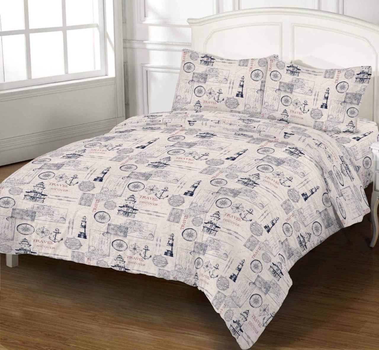 Комплект постельного белья DOTINEM Seni Бязь двуспальный 180х215 (8805-103)