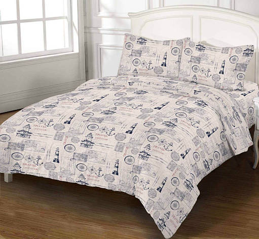 Комплект постельного белья DOTINEM Seni Бязь семейный 150х215 (8808-103), фото 2