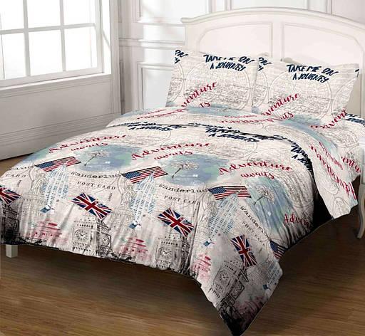 Комплект постельного белья DOTINEM Seni Бязь двуспальный 180х215 (8804-108), фото 2
