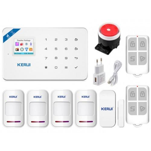 Комплект Сигнализации Kerui Wi-Fi W18 Для 3-Комнатной Квартиры! Гарантия 24 месяца!