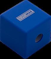 Точилка с контейнером, 1 отверстие, контейнер, ассорти цветов, CUBE, RUBBER TOUCH, Buromax