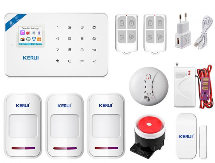Комплект сигнализации Kerui Wi-Fi W18 Pro для 2-комнатной квартиры! Гарантия 24 месяца!