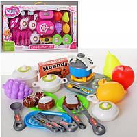Посуда - плита-трещотка, посуда, продукты, 8702-03