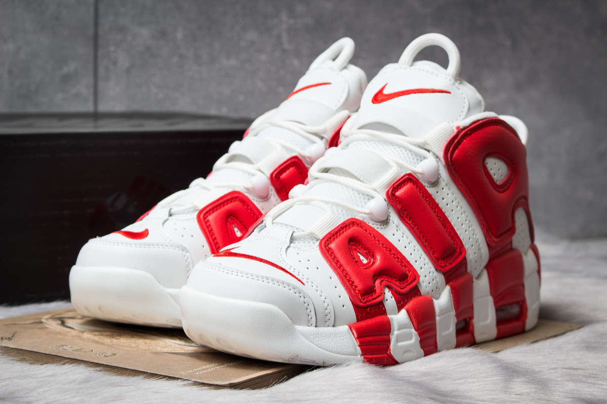 Кроссовки мужские 14814, Nike Air More Uptempo, белые, < 44 > р.44-28,4