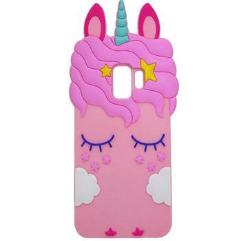 Силиконовая накладка 3D Little Unicorn для Samsung Galaxy S9