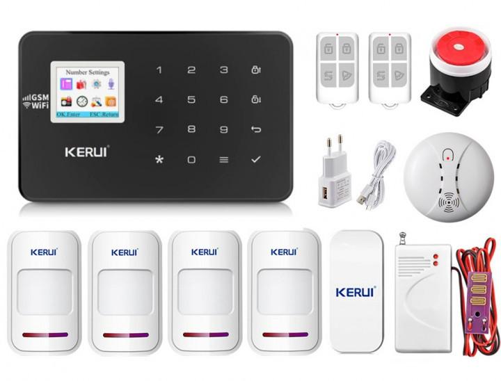 Комплект сигнализации Kerui Wi-Fi W18 Pro для 3-комнатной квартиры черная! Гарантия 24 месяца!