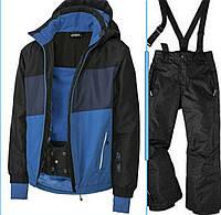 Лыжный костюм синяя куртка и черные штаны Crivit (Германия) р.122/128, фото 1