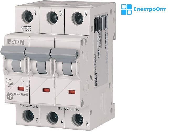 Автоматический выключатель EATON HL-C10 А трехполюсный HL194789