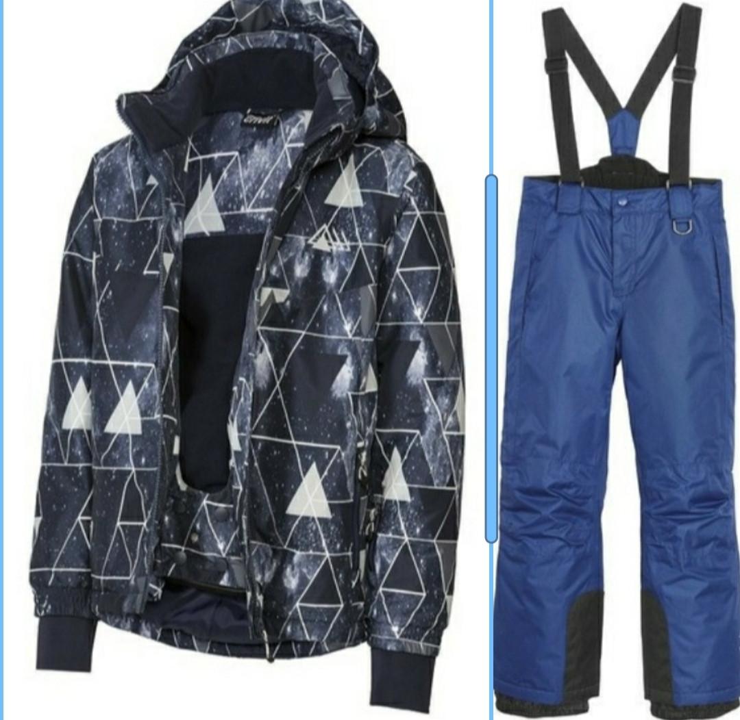 Лыжный костюм разноцветная синяя куртка и синие штаны Crivit (Германия) р.134/140