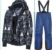 Лыжный костюм разноцветная синяя куртка и синие штаны Crivit (Германия) р.122/128, фото 1