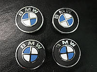 BMW 55мм V1 3D (4 шт) Колпачки в титановые диски
