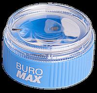 Точилка с контейнером и лупой, 1 отверстие, дисплей, Master, Buromax