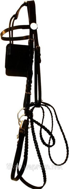 Уздечка для лошади с шорами (комплект)