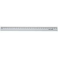 Линейка алюминиевая 30см, цвет: серебристый