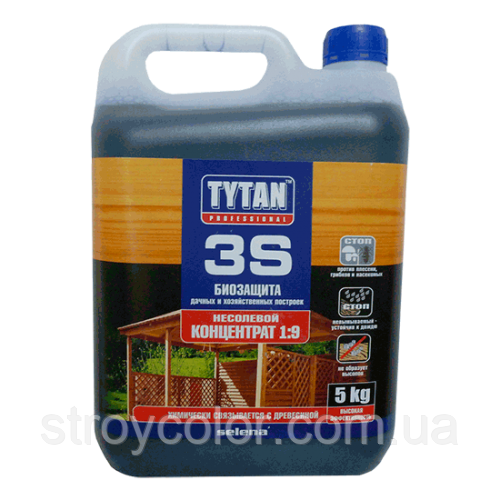 Деревозащитное средство биозащита для древесины Tytan 3S 9:1, 5кг (Титан антисептик)