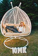 Двойное кресло кокон подвесное «Дабл» Качели садовые