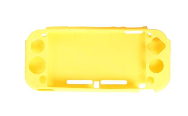 Силиконовый мягкий чехол для Nintendo Switch Lite / Есть стекла / желт