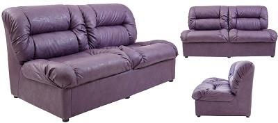 Диван двухместный Визит фиолетовый - картинка