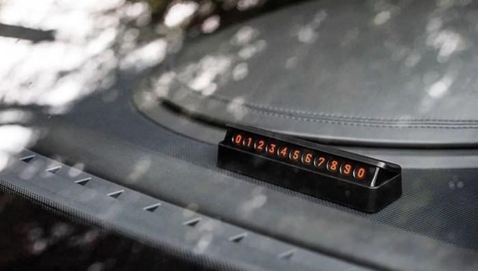 Табличка с номером телефона (временная карта парковки) Temporary Parking Card черная