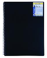 Записная книга на пружине CLASSIC, А6, 80 листов, клетка, черный