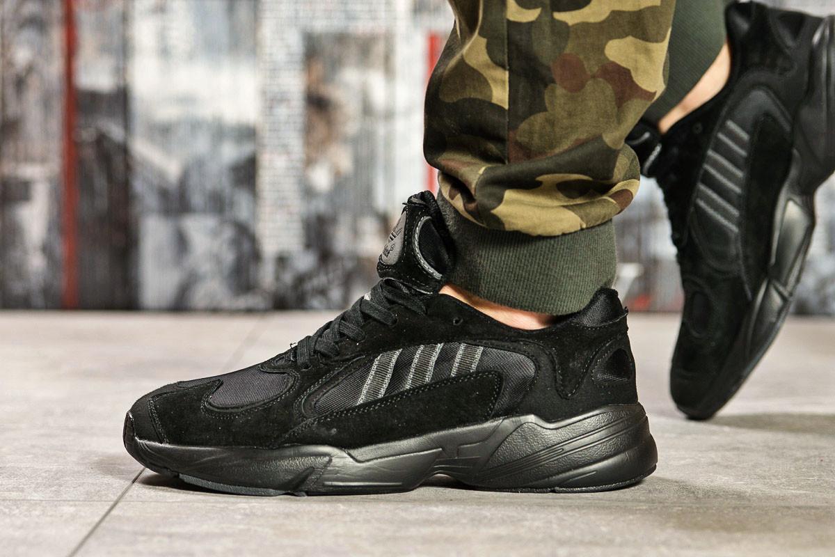 Кроссовки мужские 15516, Adidas Yung 1, черные [ 42 ] р.(42-26,5см)