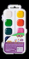Водорастворимые акварельные краски, 10 цветов,  белый