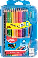 Карандаши цветные, 12 цветов +3 изделия, пенал, COLOR PEPS Smart Box, Maped