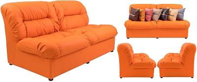 Диван двухместный Визит оранжевый - картинка