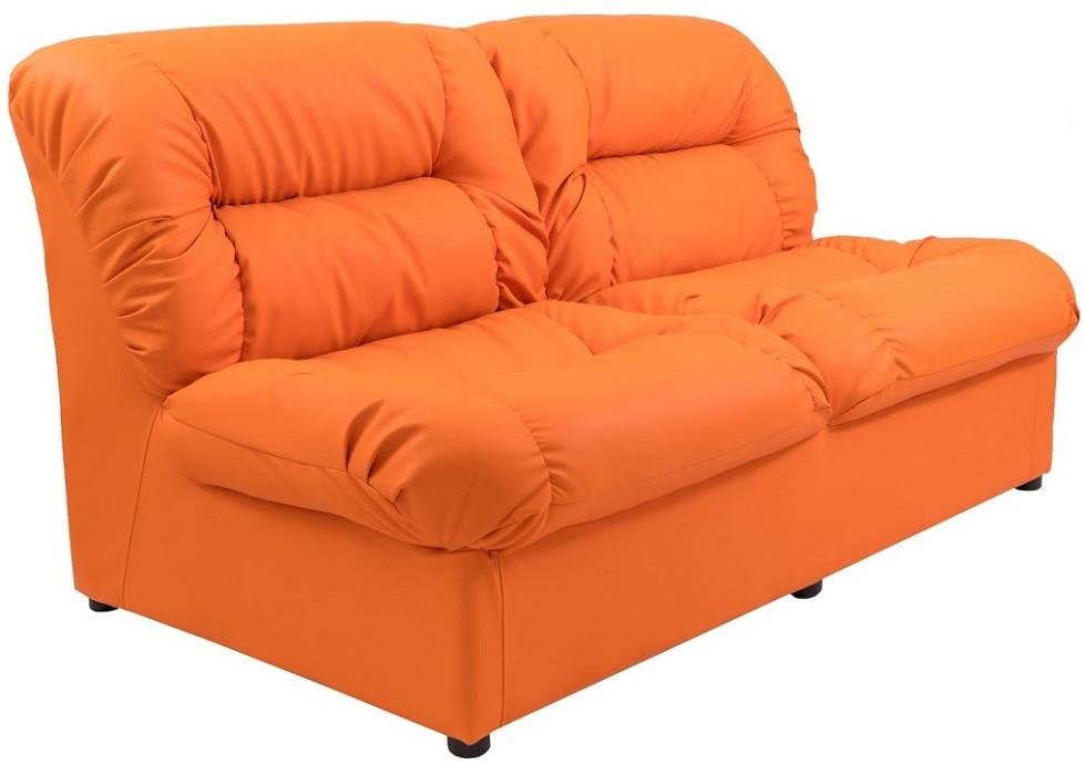 Диван двухместный Визит оранжевый Rich