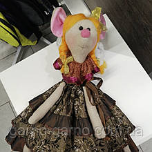 Мышка пакетница Крыса кукла для кухни Интерьерная игрушка органайзер для хранения пакетов полотенец пижамница